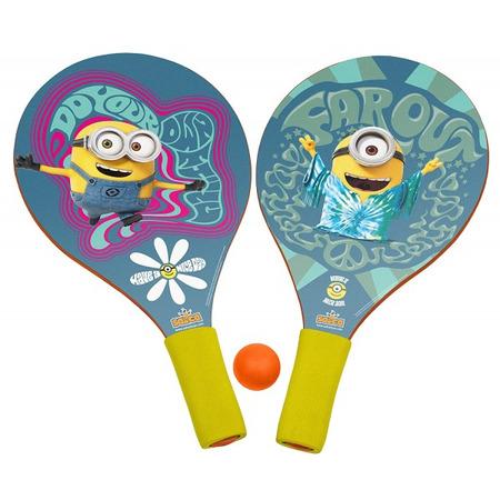Set 2 palete pentru plaja Saica Minions din lemn cu minge inclusa pentru copii*