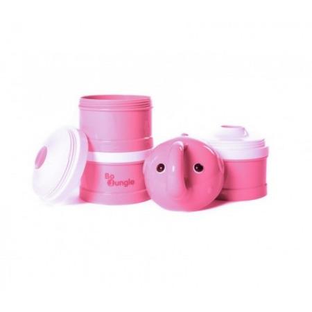 Containere lapte praf BO Jungle cu 4 compartimente Elefant Roz*