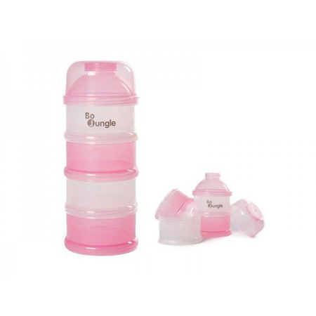 Containere roz lapte praf BO Jungle cu 4 compartimente*