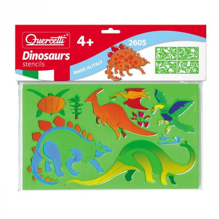 Set creativ pentru copii Sabloane Dinosauri Quercetti*