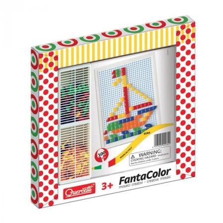 Joc creativ Fanta Color Quercetti creatie imagini mozaic 100 piese*