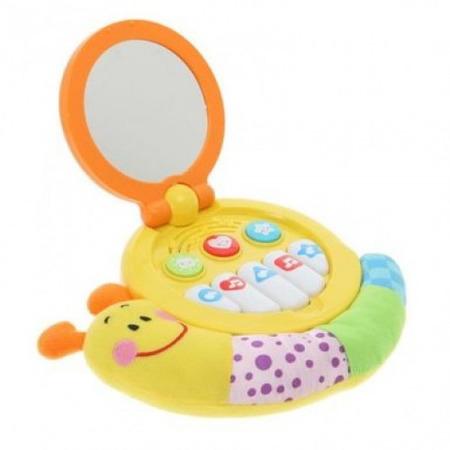 Jucarie muzicala bebelusi Winfun melc cu oglinda*
