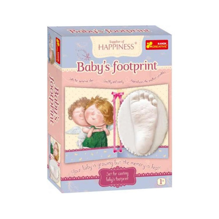 Kit amprenta pentru bebelusi Amprenta piciorului copilului GAPCHINSKA, Ranok*