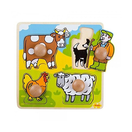 Primul meu puzzle - 4 animale domestice, Bigjigs*