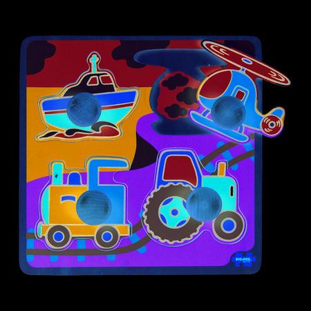 Primul meu puzzle - 4 mijloace de transport, Bigjigs*
