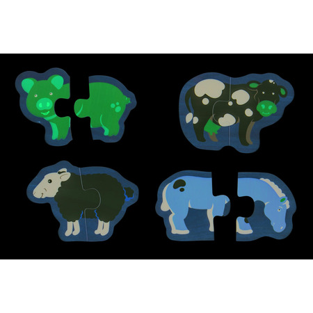 Puzzle - animale de la ferma, Bigjigs*