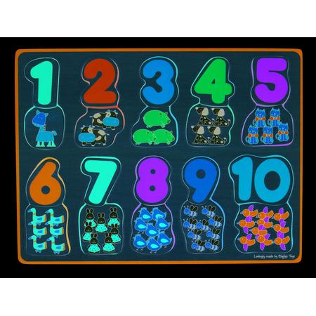 Puzzle - numere si culori, Bigjigs*