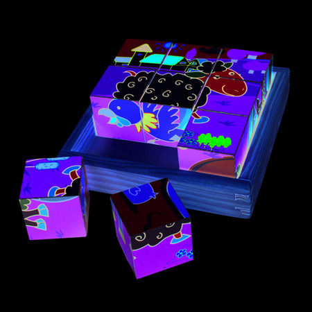 Puzzle cubic - animale domestice, Bigjigs*