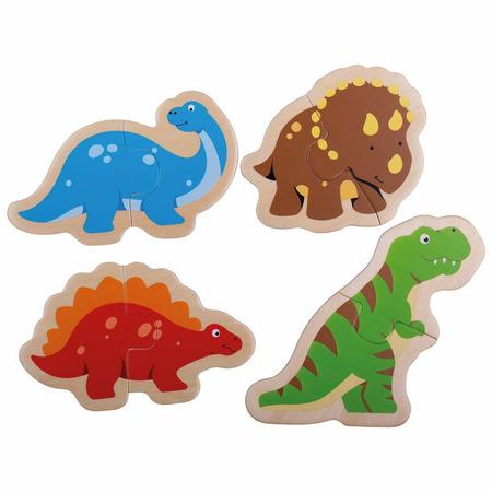 Puzzle din lemn - Dinozauri, Bigjigs*