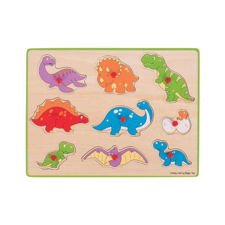 Puzzle din lemn incastru - Dinozauri, Bigjigs*