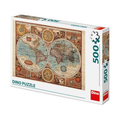 Puzzle - Harta lumii din 1626 (500 piese), Dino Toys*