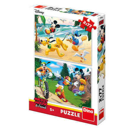 Puzzle 2 in 1 - Mickey campionul (77 piese), Dino Toys*
