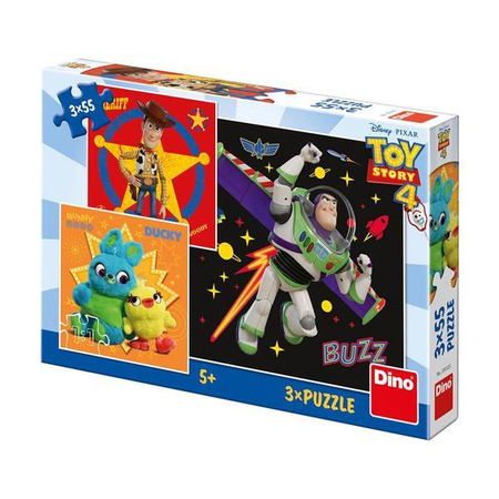 Puzzle 3 in 1 - TOY STORY 4 (55 piese), Dino Toys*