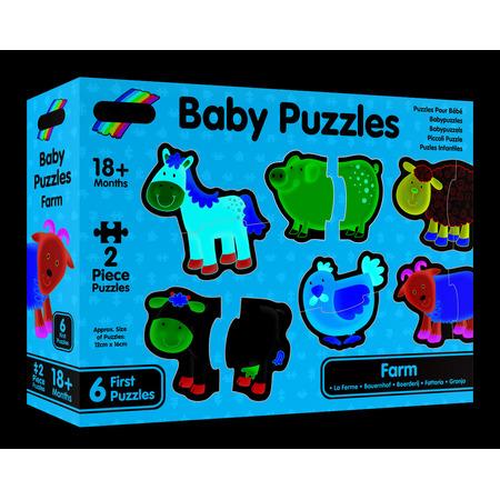 Baby Puzzle: Ferma (2 piese), Galt*