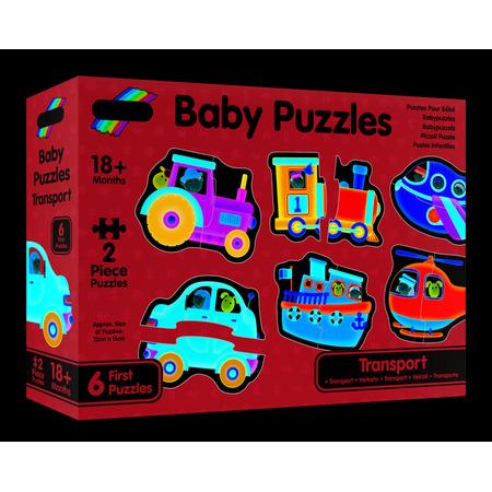 Baby Puzzles: Set de 6 puzzle-uri Transport (2 piese), Galt*
