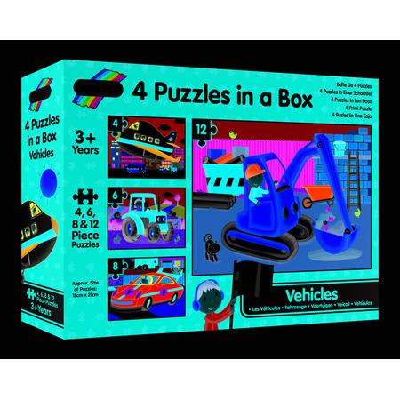 Set 4 puzzle-uri Vehicule (4, 6, 8, 12 piese), Galt*