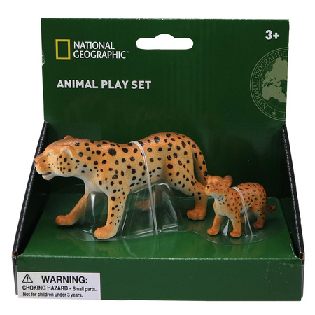 Set 2 figurine - Leopardul si puiul, National Geographic*