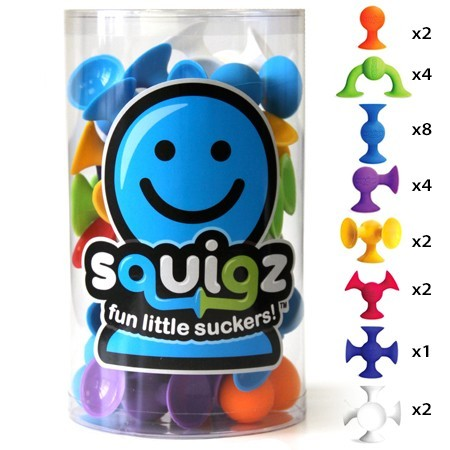 Joc de constructie Squigz Starter Set - Fat Brain Toys