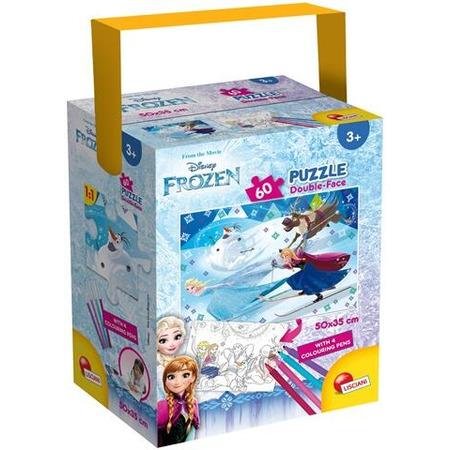 Puzzle in cutie cu 4 carioci - Frozen (60 piese), Lisciani*