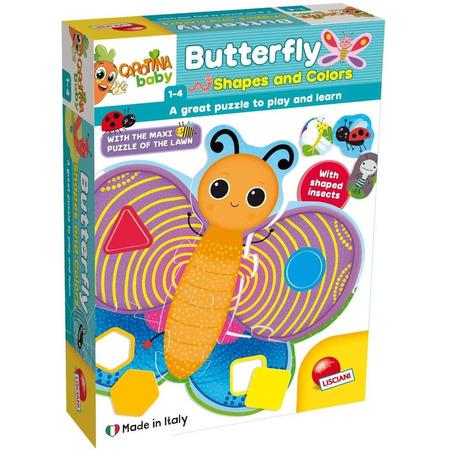 Puzzle de podea - Fluturas cu forme si culori (29 piese), Lisciani*