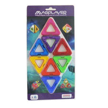 Joc de constructie magnetic - 8 piese, Magplayer*
