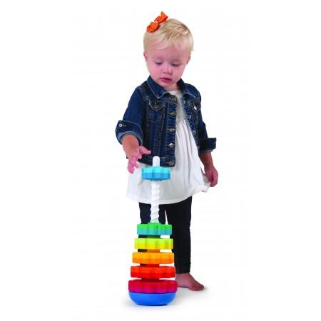 Piramida cu rotite pentru bebelusi - Fat Brain Toys