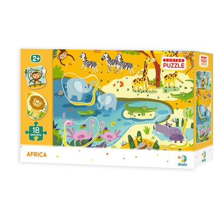 Puzzle - Animale din Africa (18 piese), Dodo*