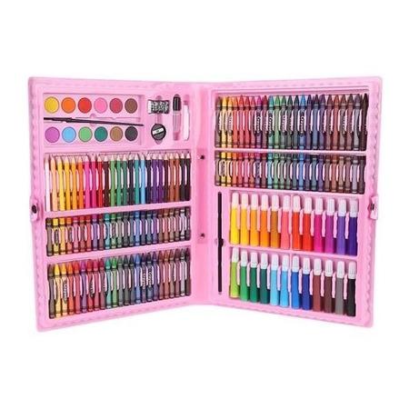 Set pentru pictura 168 piese cu geanta inclusa Iso Trade MY17250, roz*