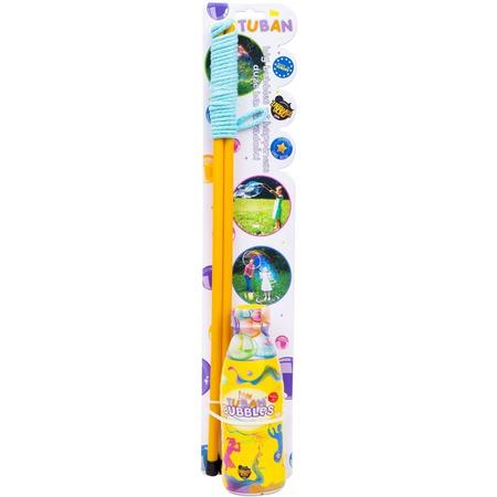 Set Bagheta uriasa baloane de sapun 50 cm si Solutie Baloane de sapun 400 ml Tuban TU3637*