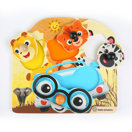 Baby einstein - jucarie de lemn hape friendly safari faces™ puzzle, Bright Starts*