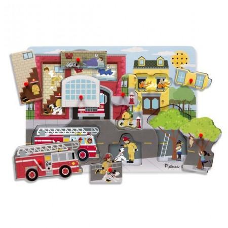 Puzzle cu sunete Brigada de pompieri Melissa and Doug