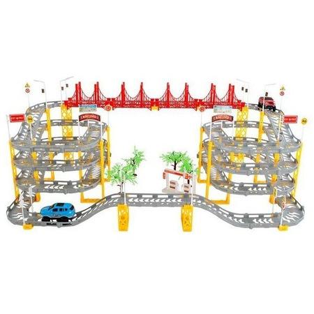 Set circuit supraetajat gigant 8m cu 2 masinute incluse, 236 piese Iso Trade MY17319*