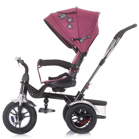 Tricicleta copii sezut reversibil, suport picioare Chipolino Arena orchid