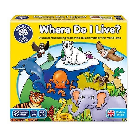 Joc educativ loto habitate where do i live, Orchard Toys*