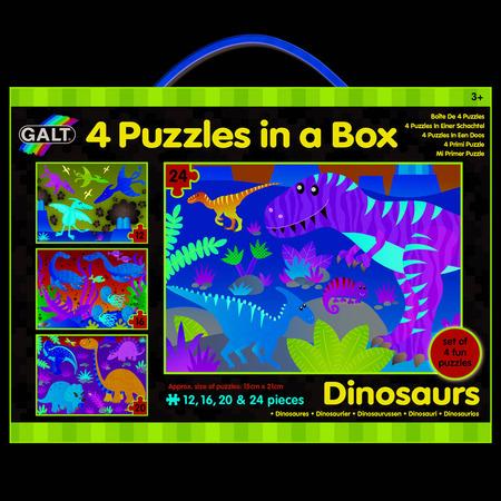 Set 4 puzzle-uri Dinozauri (12, 16, 20, 24 piese), Galt*