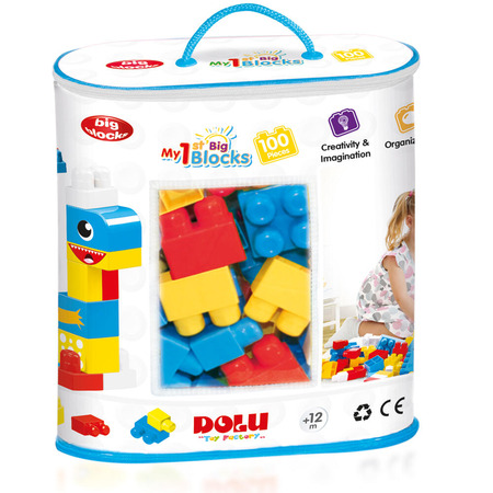 Primele cuburi  de construit - 100 piese, Dolu*