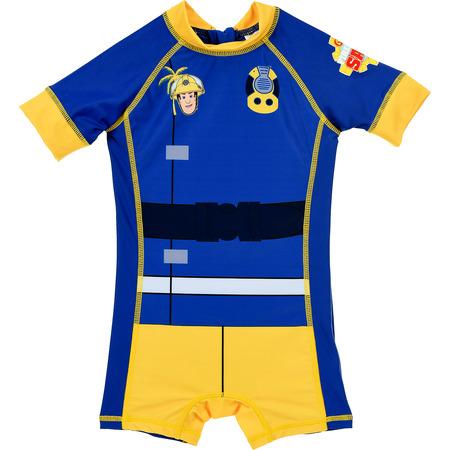 Costum de baie UV cu maneci scurte si fermoar Pompierul Sam SunCity SE1836, albastru*