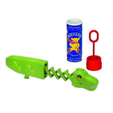 Set baloane de sapun Pustefix cu jucarie crocodil cu brat retractabil pentru a prinde baloanele de sapun 70 ml*