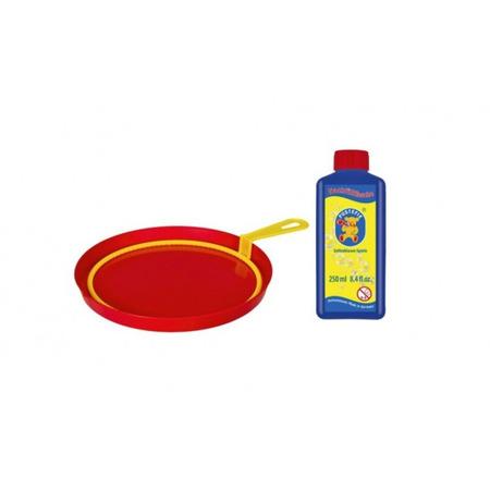 Jucarie baloane de sapun Pustefix cu 1 inel galben 18cm si 250ml solutie baloane de sapun*