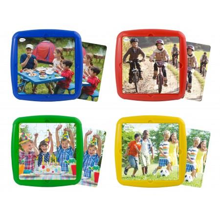 Set 4 puzzle Ma distrez cu prietenii mei - Miniland