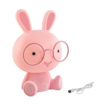 Lampa de veghe Iepuras Iso Trade MY6599, roz*