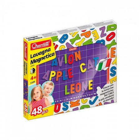Joc creativ Quercetti tablita magnetica 123 piese ABC*
