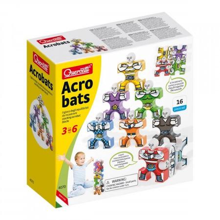 Joc educativ pentru copii Quercetti Acrobats 4070 Omuleti acrobati 16 piese multicolore*