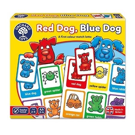 Joc educativ loto in limba engleza catelusii red dog blue dog, Orchard Toys*