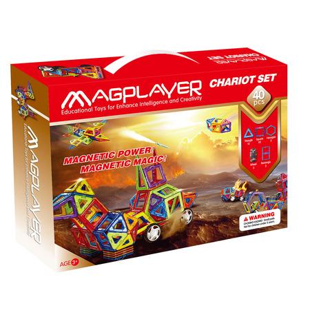 Joc de constructie magnetic - 40 piese, Magplayer*