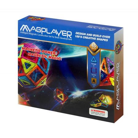 Joc de constructie magnetic - 45 piese, Magplayer*