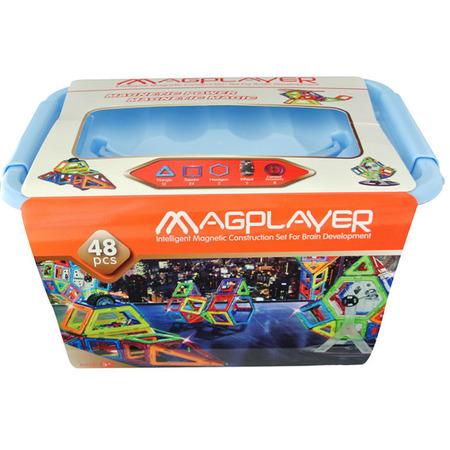 Joc de constructie magnetic - 48 piese, Magplayer*