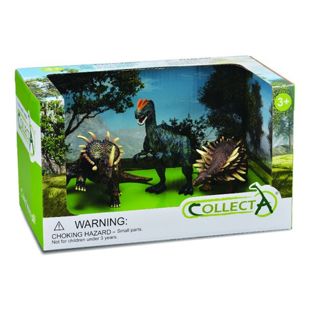 Set 3 figurine Dinozauri pictate manual Collecta*