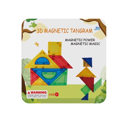 Joc de constructie magnetic - Tangram (9 piese), Magplayer*