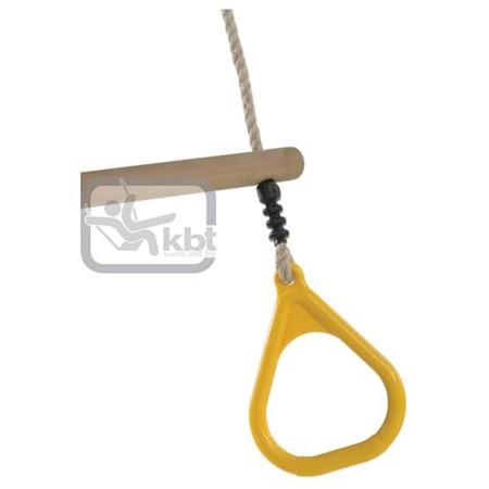 Trapez din lemn cu inele din plastic pp10, galben, 2,55 m, Kbt*